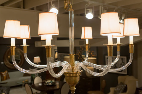 Vivian One-Tier Brass Chandelier - Visual Comfort
