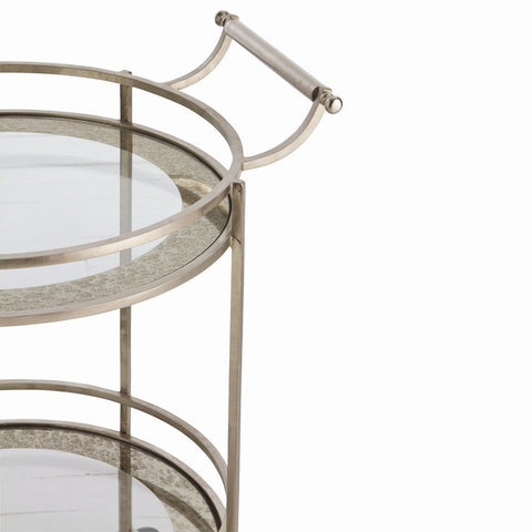 Wade Bar Cart Silver - Arteriors Home
