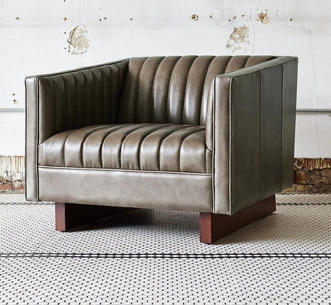 Wallace Leather Chair - Gus Modern