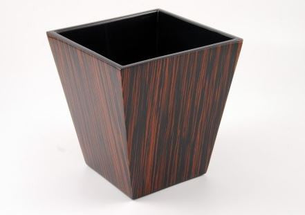 Waste Basket Macassar Ebony - Pacific Connections