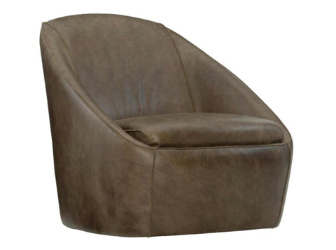 Webster Leather Swivel Chair - Bernhardt Loft