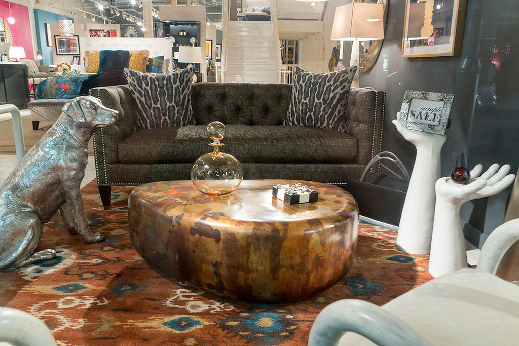 wedge coffee table - phillips collection | luxe home philadelphia