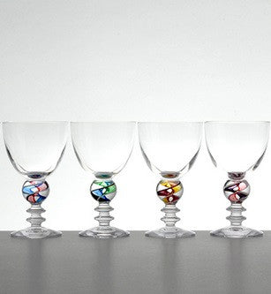 White Wine Marble Glasses - Teign Valley Glass