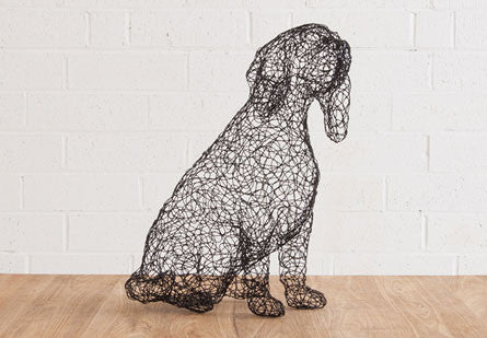 Wire Seated Dog Beagle - Phillips Collection