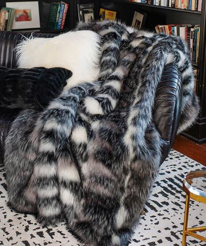 Limited Edition Noble Wolf Throw - Fabulous Furs