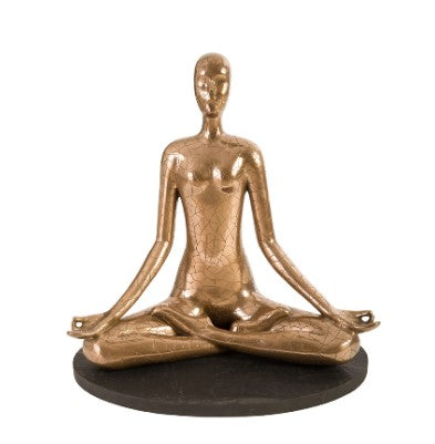 Yoga Figure Meditating Sculpture - Phillips Collection