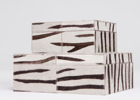 Zachary Zebra Set of Two Boxes - Made Goods