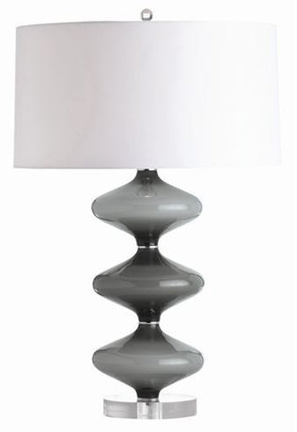 Raven Shadow Gray Lamp - Arteriors Home