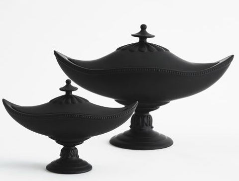 Palladian Beaded Urn-Matte Black - Global Views