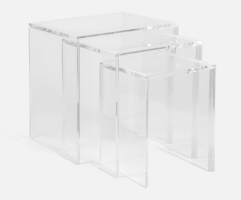 Beckham Acrylic Nesting Tables - Made Goods