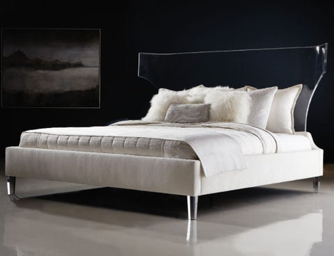 Estella Acrylic Upholstered King Bed - Bernhardt Interiors