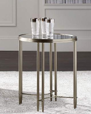 Allure Metal Round Drink Table - Bernhardt