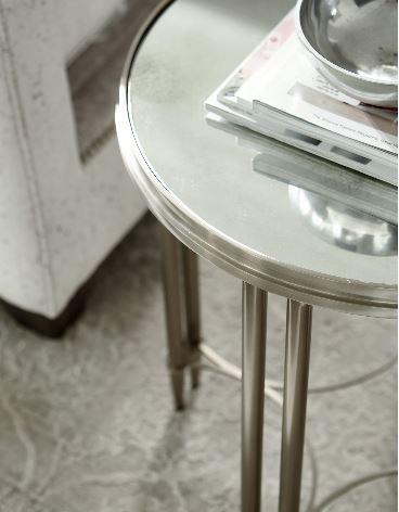 Allure Metal Round Drink Table - Bernhardt Furniture