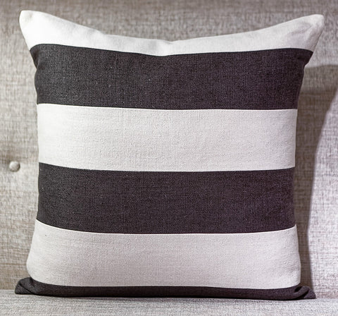 Slubby Linen Striped Pillow - Ryan Studio