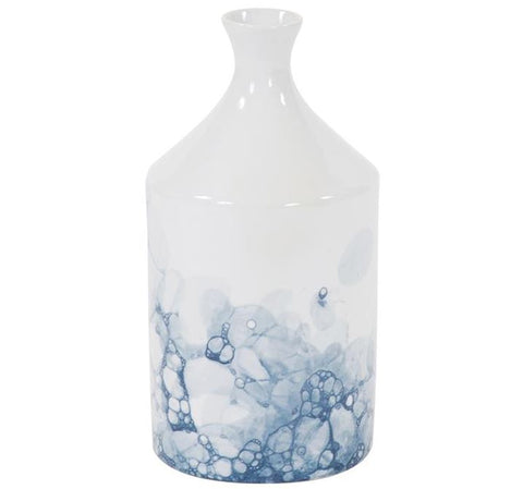 Blue and White Porcelain Bottle Vase - Howard Elliott