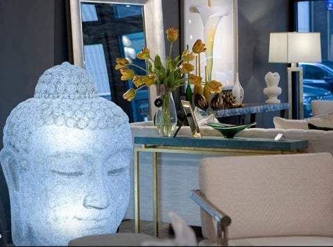 Buddha Head Illuminated Sculpture - Phillips Collection