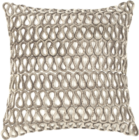 Creme Linen Natural Velvet Loop Pillow - Callisto Home
