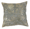 Aqua Velvet Gold Hide Greek Key - Callisto Home