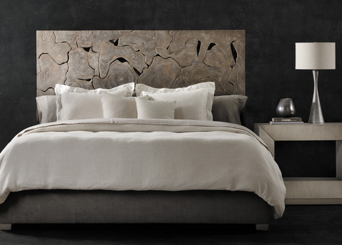 Calavaras King Laminated Teak Panel Bed - Bernhardt Interiors