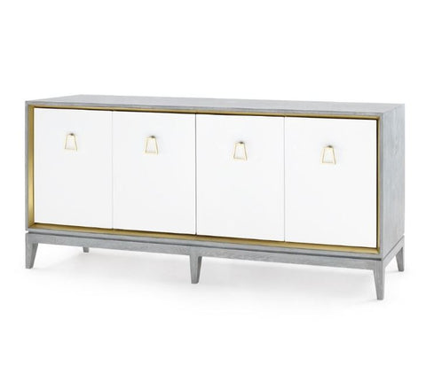 Cameron 4-Door Cabinet, Gray - Bungalow 5
