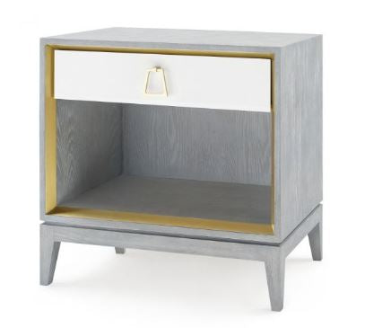 Cameron One-Drawer Side Table, Gray - Bungalow 5