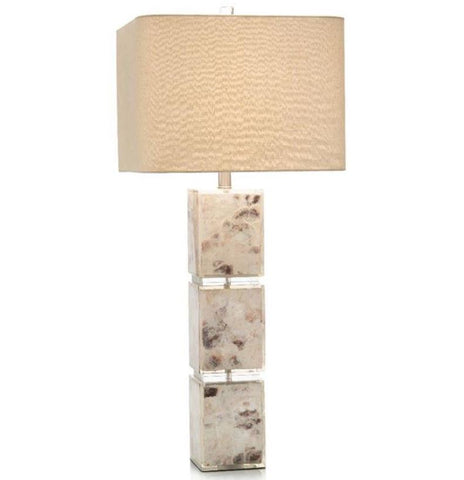 Capiz Shell Blocks Table Lamp - John-Richard