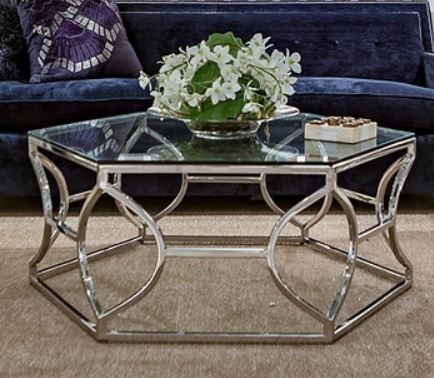 Argent Metal Cocktail Table - Bernhardt Interiors