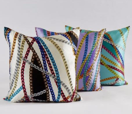 Chain Pillow Lavender - Ann Gish
