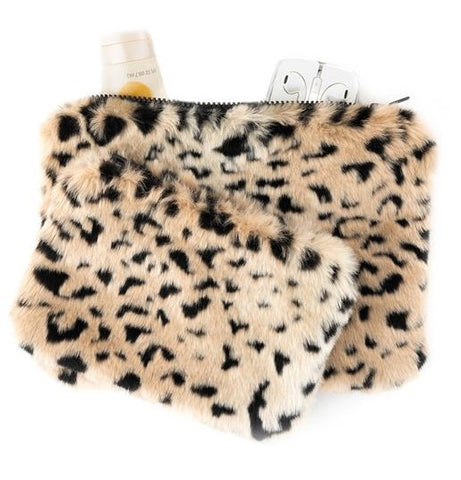 Cheetah Travel Pouches-Set of 2 - Fabulous Furs