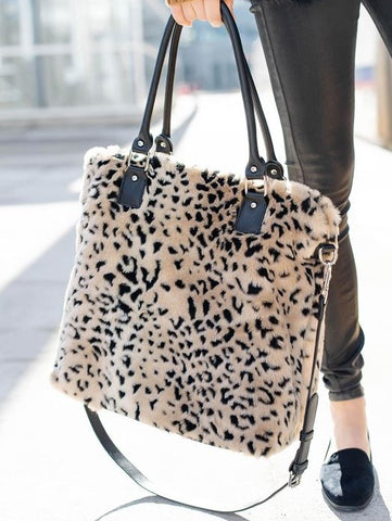 Cheetah Commuter Tote - Fabulous Furs