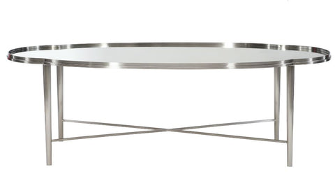 Allure Metal Oval Cocktail Table - Bernhardt Furniture