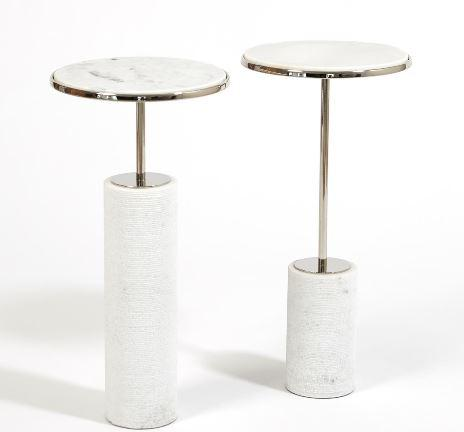 Cored Marble Tables - Global Views