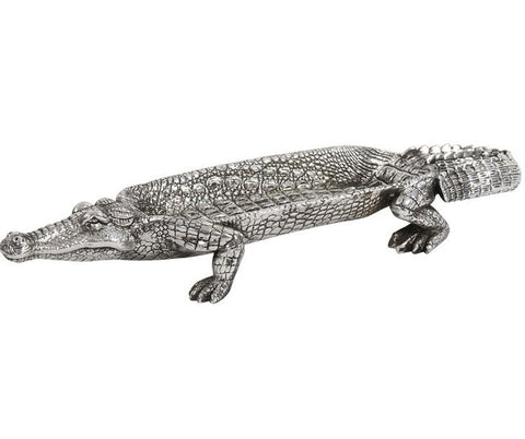 Silver Crocodile Tray by Howard Elliott