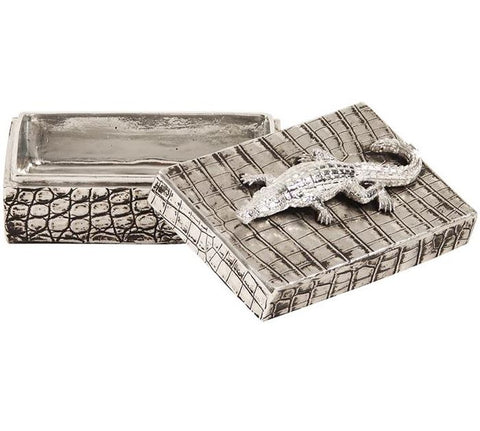 Crocodile Texture Decorative Box by Howard Elliott