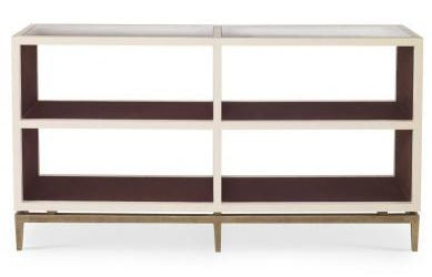 Delichy Console/Bookcase Vanilla Crocodile - Mr. Brown London