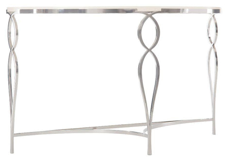 Calista Metal Demilune Console Table - Bernhardt Furniture
