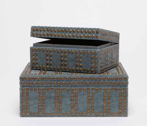Landon Canvas Studded Boxes - Made Goods