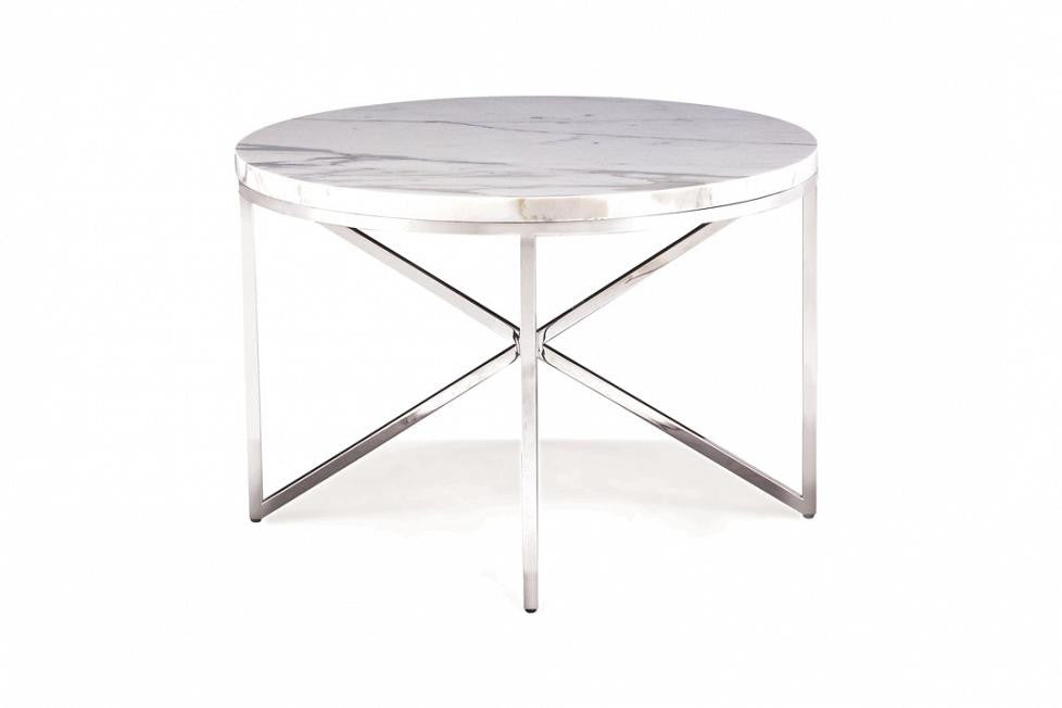 Domicile Side Table With Marble Top   Bolier U0026 Company