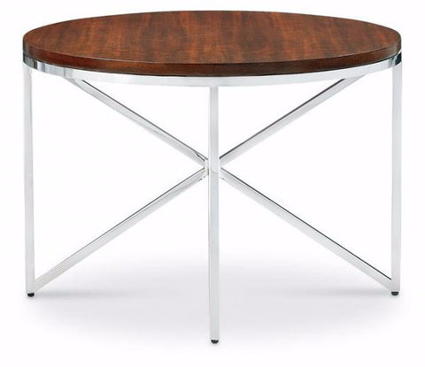 Domicile Side Table with Walnut Top - Bolier & Co.