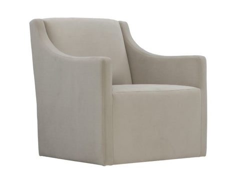 Elle Swivel Chair by Bernhardt - Side View in Natural Fabric at Luxe Home Philadelphia