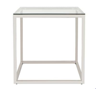 Square Stainless Steel End Table - Howard Elliott