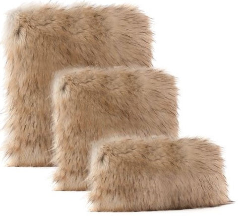 Taupe Fox Limited Edition Pillow - Fabulous Furs