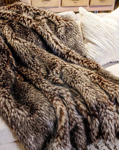 Spotted Wolf Limited Edition Throw - Fabulous Furs