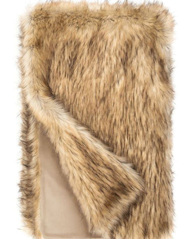 Taupe Fox Limited Edition Throw - Fabulous Furs