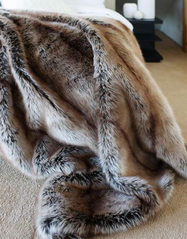 Tipped Coyote Limited Edition Throw - Fabulous Furs