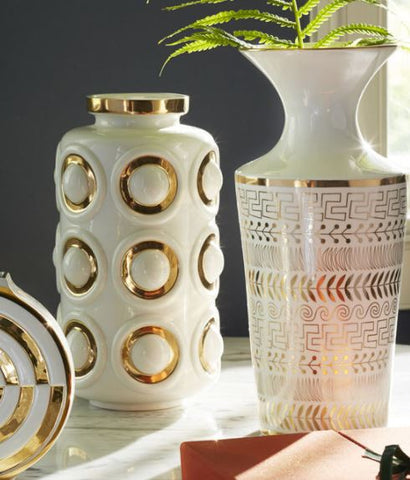 Futura Greek Borders Vase - Jonathan Adler