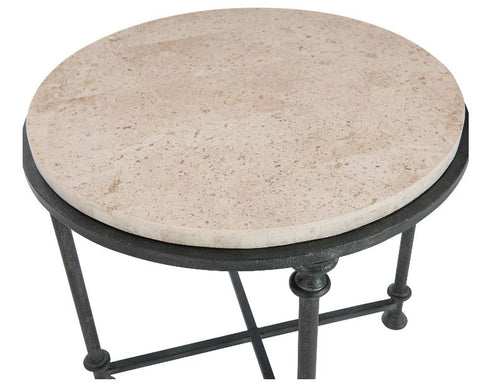 Galesbury Round Metal End Table - Bernhardt Furniture