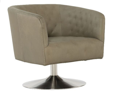 Geneva Leather Swivel Chair - Bernhardt Furniture