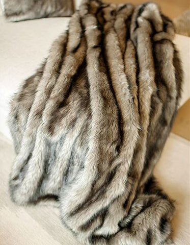 Grey Wolf Limited Edition Throw - Fabulous Furs