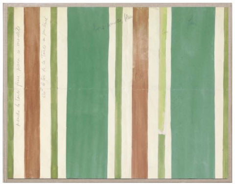 Paule Marrot, Green Brown Stripes - Natural Curiosities
